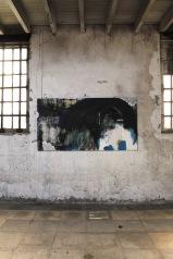 serie la melancolia es un espacio climatico. bajo la ola. 94cm x 178cm tecnica mixta sobre lienzo 2013 coleccion privada carlos rivera