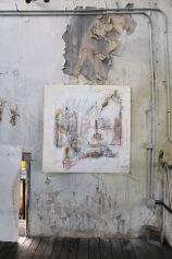serie mi. de caca... 113cm x 113cm tecnica mixta sobre papel 2006 precio 750