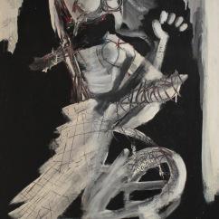 serie orqidea. ella. 97cm x 196cm tecnica mixta sobre lienzo 2008 precio 1100