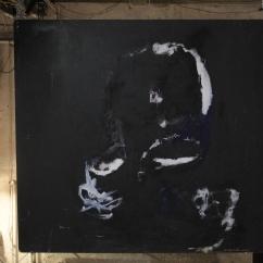 serie orquidea. huyendo. 153cm x 146cm tecnica mixta sobre madera 2008 precio 3500