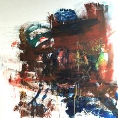 serie panico a lo humano. violentarse y no ver. 162cm x 194cm tecnica mixta sobre lienzo 2016 precio 3000