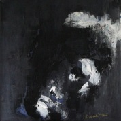 serie rostros de la oscuridad. ...eramos... tecnica sobre lienzo 61cm x61cm 2002 precio 650