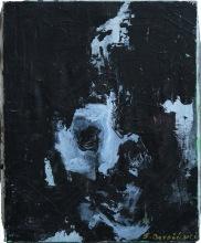 serie rostros de la oscuridad. brujula. 41cm x 33cm acrilico sobre lienzo 2003 precio 1200