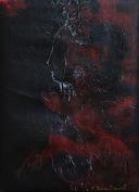 serie rostros de la oscuridad. rostros de la oscuridad. 55cm x 40cm acrilico sobre lienzo 2003 precio 850